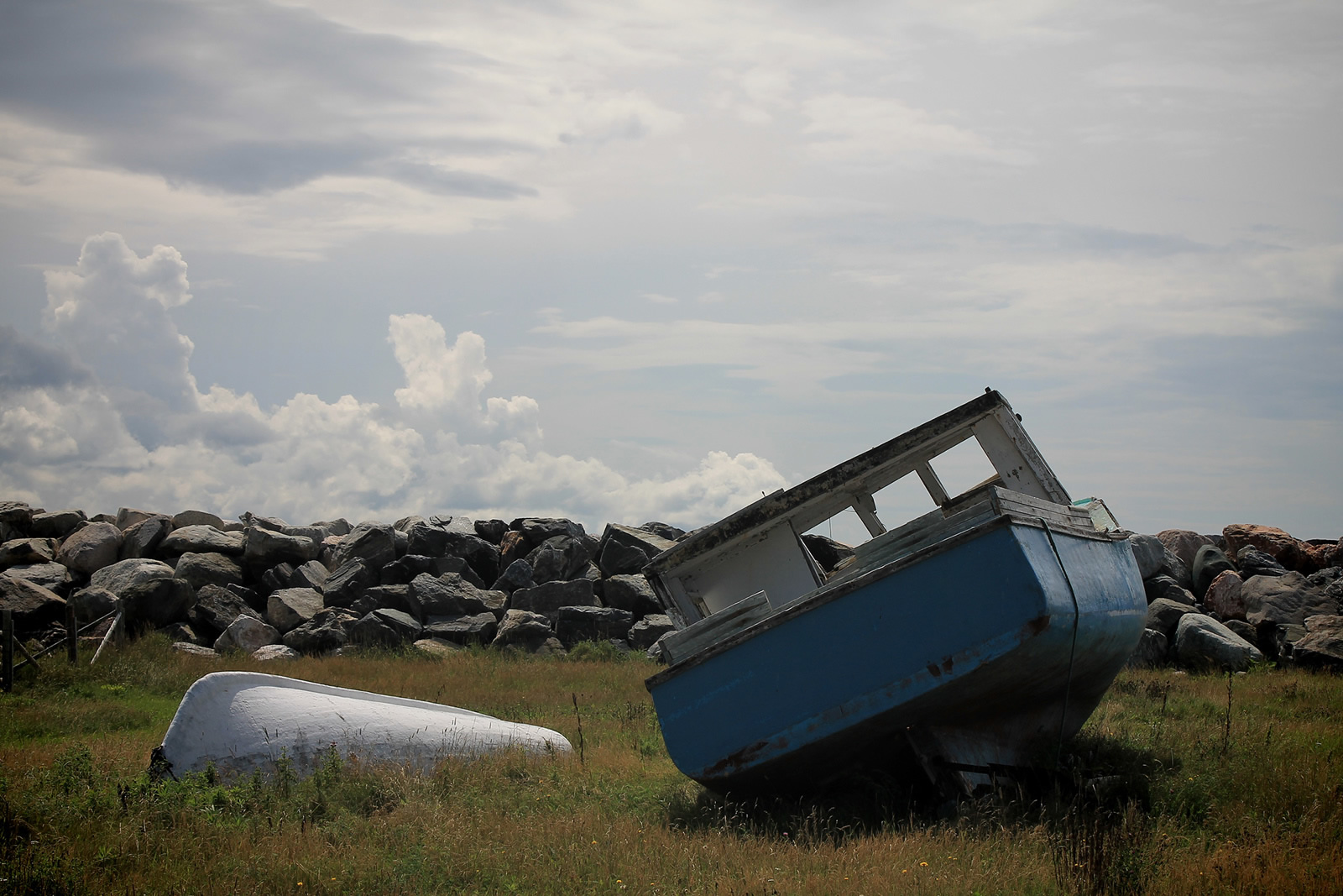 Newfoundland, Canada_Codroy_blue boat.C.Poitevin