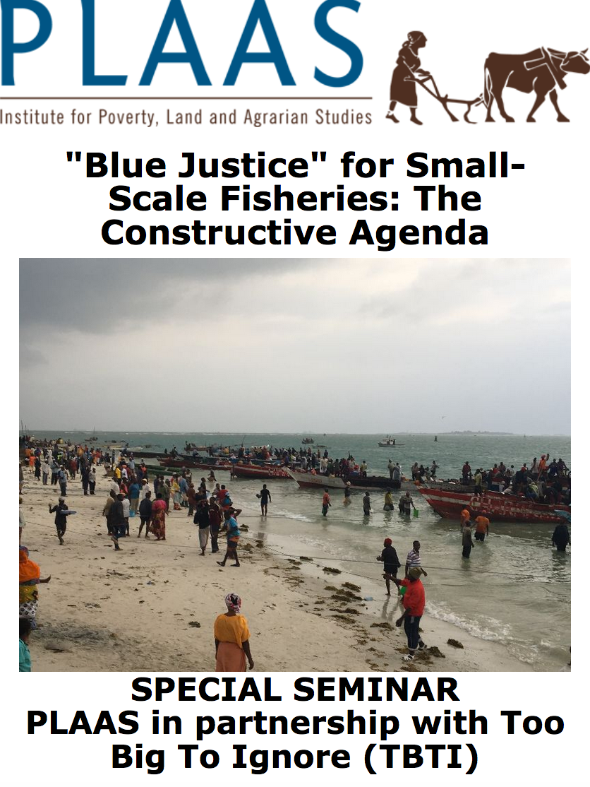 Special seminar held on 'Blue Justice' for SSF in Cape Town on Jan 25